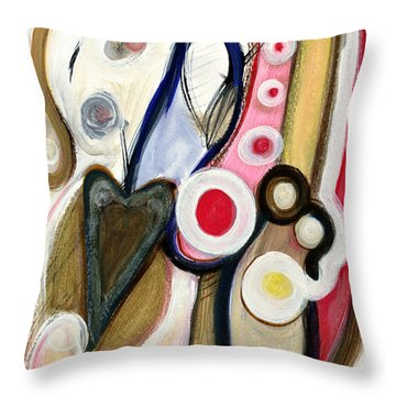 Throw Pillow featuring the painting Emotions by Stephen Lucas