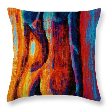 Throw Pillow featuring the painting Emotive by Michael Cross