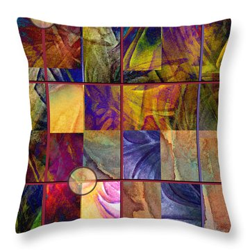 Emotive Tapestry Throw Pillow by Allison Ashton