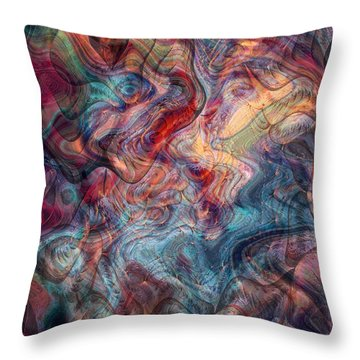 Empathic Psychic Throw Pillow by Linda Sannuti