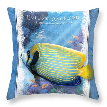 Emperor Angelfish Throw Pillow