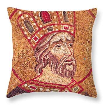 Emperor Constantine I Throw Pillow by Byzantine School