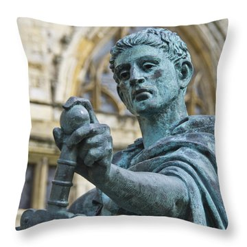 Throw Pillow featuring the photograph Emperor Constantine by Ross G Strachan
