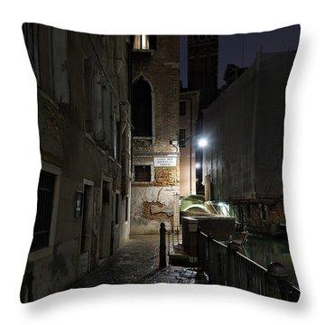Throw Pillow featuring the photograph Empire Of Venetian Light by Marion Galt