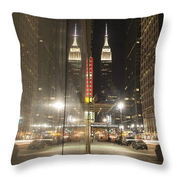 Empire Reflections Throw Pillow