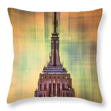 Empire State Building 3 Throw Pillow by Az Jackson