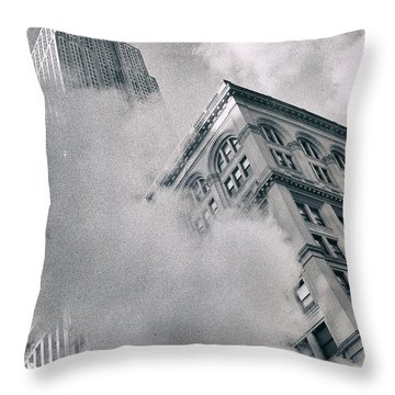 Empire State Building And Steam Throw Pillow