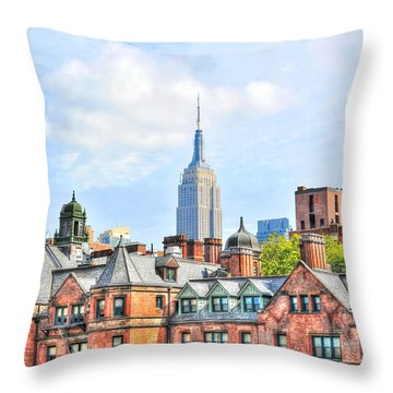 Empire State Building From The High Line Throw Pillow by Randy Aveille