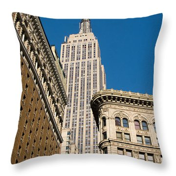 Throw Pillow featuring the photograph Empire State Building by Michael Dorn