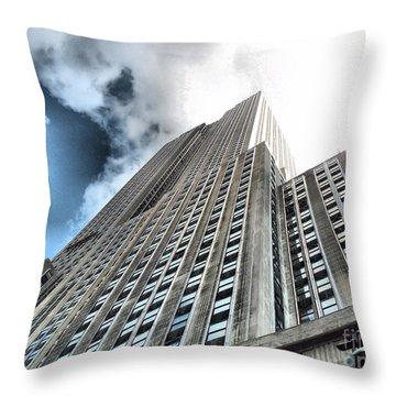 Empire State Building - Vertigo In Reverse Throw Pillow