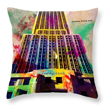 Empire State Throw Pillow by Gary Grayson