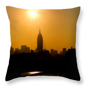 Empire Sunrise Throw Pillow by Joann Vitali