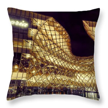 Emporia By Night Throw Pillow