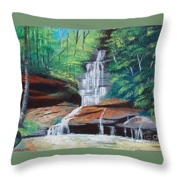 Empress Falls Australia Throw Pillow