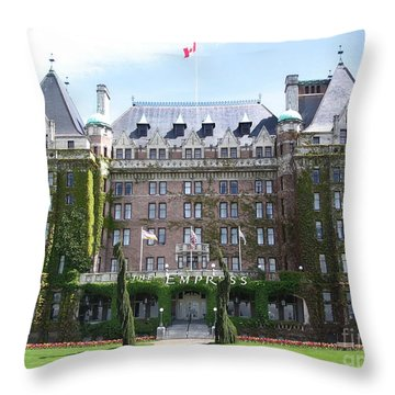 Empressed By Royalty Throw Pillow