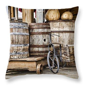 Emptied Barrels Throw Pillow