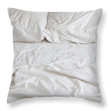 Empty Bed Throw Pillow