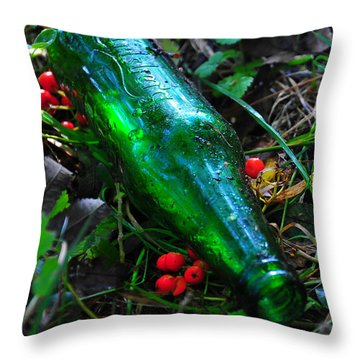 Empty Bottle Throw Pillow