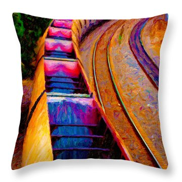 Empty Coal Hoppers Throw Pillow