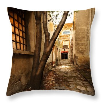 Empty Corridor Throw Pillow