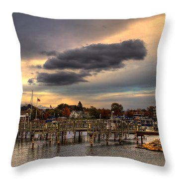 Empty Docks Throw Pillow