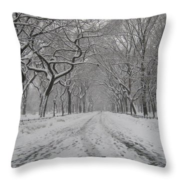 Empty Mall Walk Throw Pillow by Catie Canetti