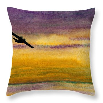 Empty Ocean Ahead - Pby Catalina Flying Boat From Wwii Throw Pillow