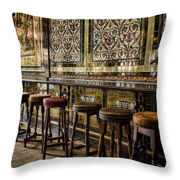 Empty Pub Throw Pillow
