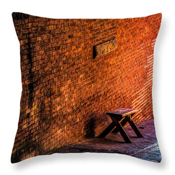 Empty Seat On A Hill Throw Pillow by Bob Orsillo