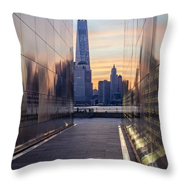Empty Sky Memorial And The Freedom Tower Throw Pillow