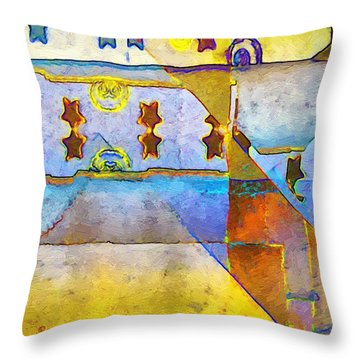 Empty Stage Throw Pillow by RC deWinter