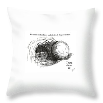 Empty Tomb Throw Pillow by Jerry Ruffin