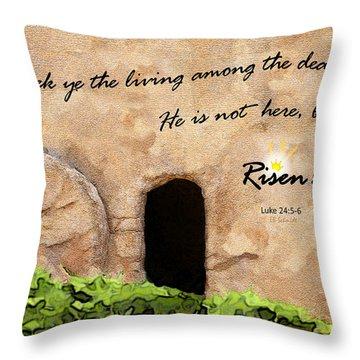 Empty Tomb - Luke 24 Throw Pillow