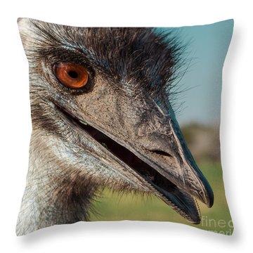 Emu Closeup  Throw Pillow