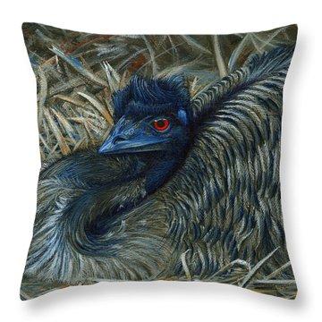 Emu Throw Pillows