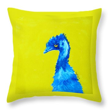 Throw Pillow featuring the painting Emu Gold by Margaret Saheed