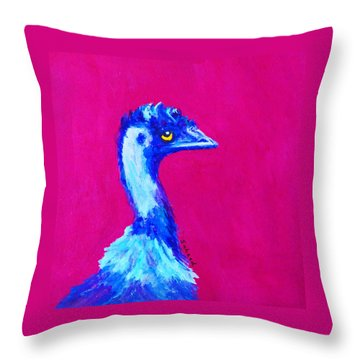 Emu Pink Throw Pillow