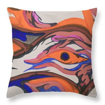En Formation Throw Pillow by Mary Mikawoz
