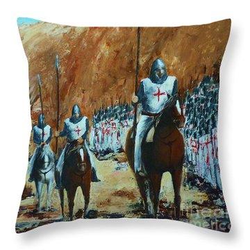 En Route To Battle Throw Pillow