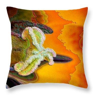 Enamel Tulip Throw Pillow