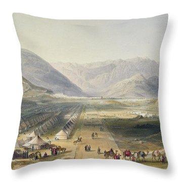 Encampment Of The Kandahar Army Throw Pillow