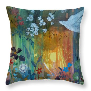 Throw Pillow featuring the painting Encantador by Robin Maria Pedrero