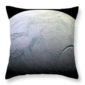 Enceladus Throw Pillow by Adam Romanowicz