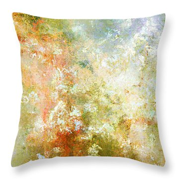 Enchanted Blossoms - Abstract Art Throw Pillow by Jaison Cianelli