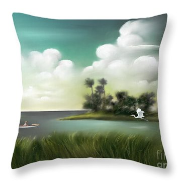 Enchanted Florida Throw Pillow