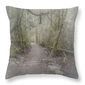 Enchanted Forest Throw Pillow by Elaine Teague