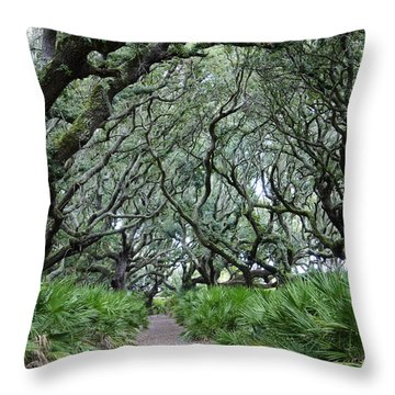 Enchanted Forest Throw Pillow by Laurie Perry