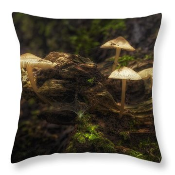 Mushrooms Throw Pillows