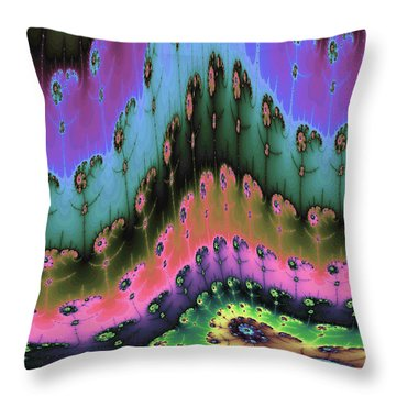 Enchanted Forests Of A New World Throw Pillow by Angela A Stanton