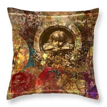 Enchanted Garden Throw Pillow